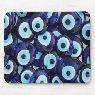 Nazar Amulets Evil Eye Stones Blue Pattern Mouse Pad