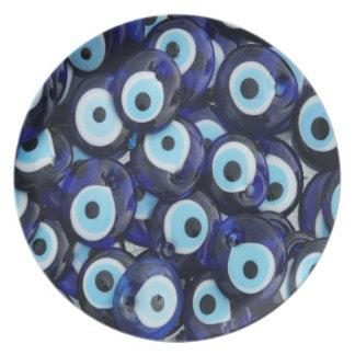 Nazar Amulets Evil Eye Stones Blue Pattern Plates