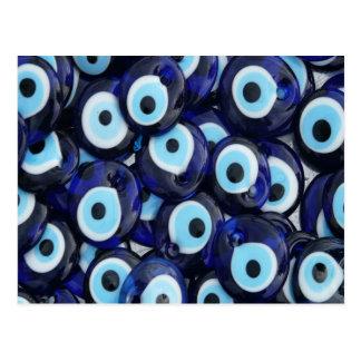Nazar Amulets Evil Eye Stones Blue Pattern Postcard