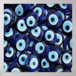 Nazar Amulets Evil Eye Stones Blue Pattern Posters