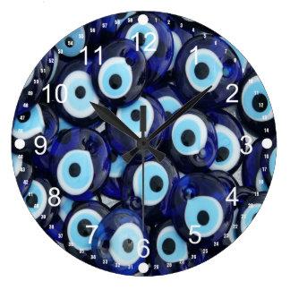 Nazar Amulets Evil Eye Stones Blue Pattern Wallclocks