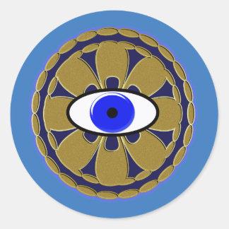 "nazar ""evil eye"" amulet classic round sticker"