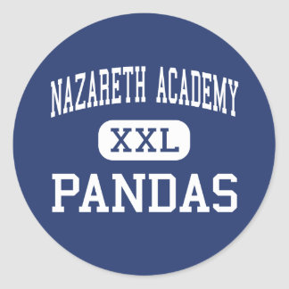Nazareth Academy - Pandas - High - Philadelphia Classic Round Sticker