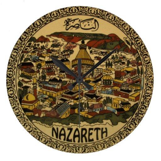 Nazareth Cityscape Large Clock