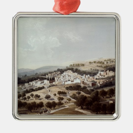 Nazareth, engraved by Terry Metal Ornament