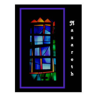 Nazareth Stained Glass Window Postcard