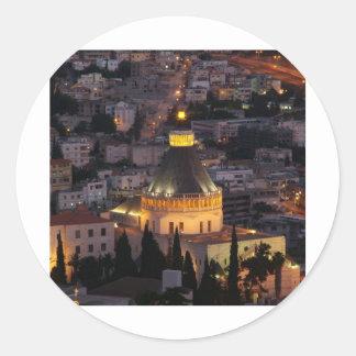 Nazareth, the city of Jesus parents Classic Round Sticker