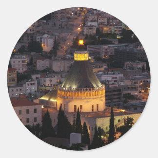 Nazareth, the city of Jesus parents Round Sticker