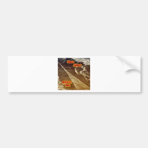 Nazca Airport 600A.D Car Bumper Sticker