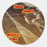 Nazca Airport 600A.D Classic Round Sticker