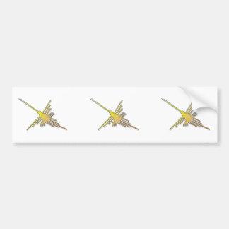 Nazca de oro alinea el colibrí pegatina para coche