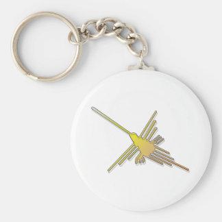 Nazca de oro alinea el colibrí llaveros