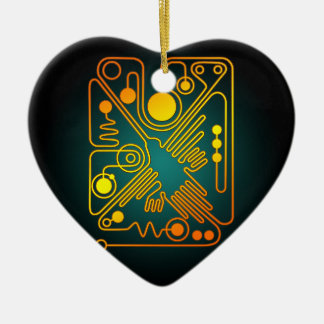 Nazca Hummingbird (G) Double-Sided Heart Ceramic Christmas Ornament
