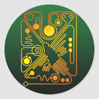 Nazca Hummingbird (G) Classic Round Sticker