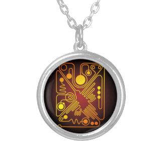 Nazca Hummingbird Round Pendant Necklace
