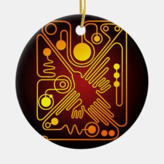 Nazca Hummingbird Double-Sided Ceramic Round Christmas Ornament