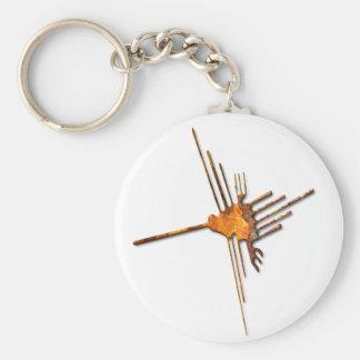 Nazca Hummingbird rust Keychain