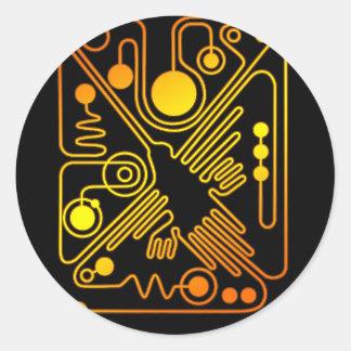 Nazca Hummingbird Classic Round Sticker