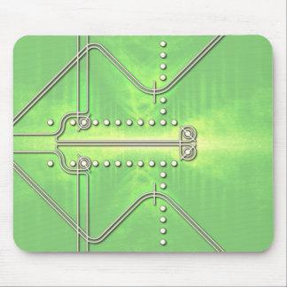 nazca line inspired retro design green mouse pad