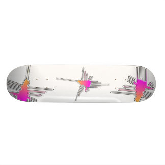 Nazca Lines Hummingbird Skateboard Deck