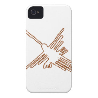 Nazca Lines Hummingbird Sketch iPhone 4 Cover