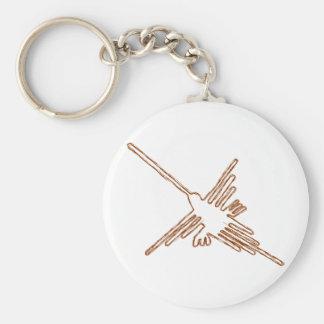 Nazca Lines Hummingbird Sketch Keychain