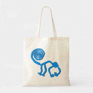 Nazca Monkey in Baby Blue Tote Bag