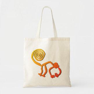 Nazca Monkey in Fire Tote Bag