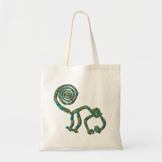 Nazca Monkey in Flower Tote Bag