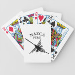 Nazca Peru Hummingbird With Curved Text Bicycle Playing Cards