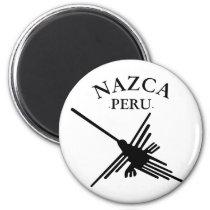 Nazca Peru Hummingbird With Curved Text Magnet