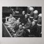 Nazi Defendants Sitting at the Nuremberg Trials Print