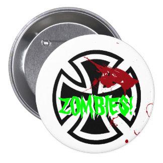 Nazi Zombie pin badge large