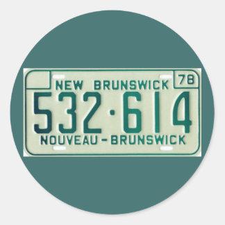 NB78 CLASSIC ROUND STICKER