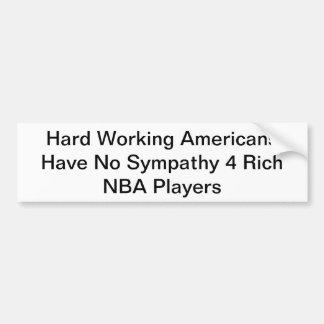 NBA CAR BUMPER STICKER