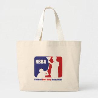 NBBA, Nationatl Beer Bong Association Large Tote Bag