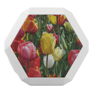 nbluete, flowers, tulip field, colorful, color, sp white bluetooth speaker
