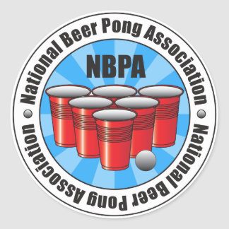 NBPA National Beer Pong Association Starburst Classic Round Sticker