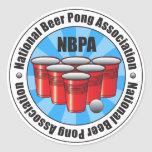 NBPA National Beer Pong Association Starburst Classic Round Sticker