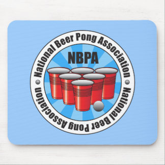 NBPA National Beer Pong Association Starburst Mouse Pad
