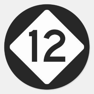 NC 12 CLASSIC ROUND STICKER