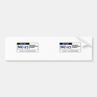NC-17 clasificado Etiqueta De Parachoque