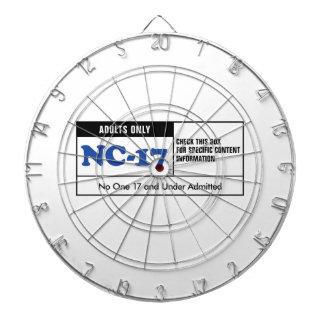 NC-17 clasificado Tabla Dardos
