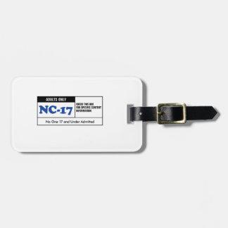 NC-17 clasificado Etiqueta Para Maleta
