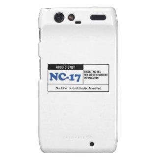 NC-17 clasificado Droid RAZR Carcasa