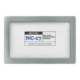 NC-17 clasificado Hebillas De Cinturón Rectangulares