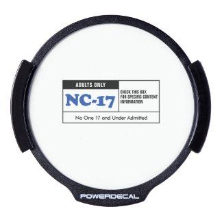 NC-17 clasificado Pegatina LED Para Ventana