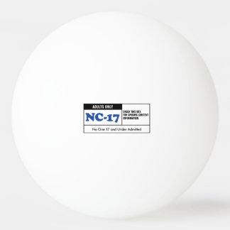 NC-17 clasificado Pelota De Tenis De Mesa