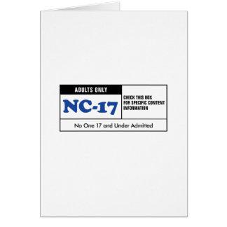 NC-17 clasificado Felicitacion