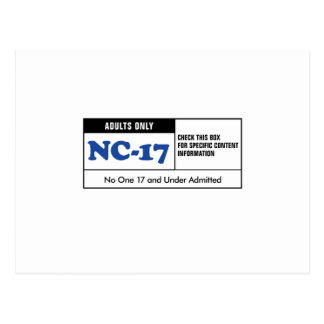 NC-17 clasificado Tarjeta Postal